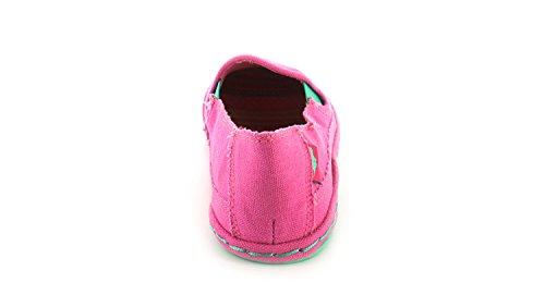 Rocket Dog Sunny Damen rosa/hellblaue Leinenschuhe zum Reinschlüpfen