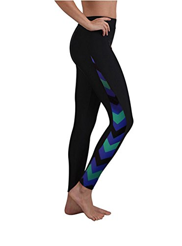 Women Long Surfing Leggings Swim Tights Swimming Pants Floral-5 - Shorts What Swim Jammer Are