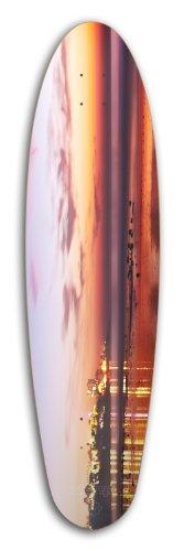 ZtuntZ Skateboards Sidewalk Rider So Cal Sunset Long Skateboard Deck, 9.65 x 37-Inch, Orange/Blue (Sunset Skateboard Decks)