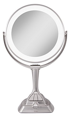 Zadro LED Light Dimmable Dual-Sided Vanity Mirror, Satin Nickel by Zadro