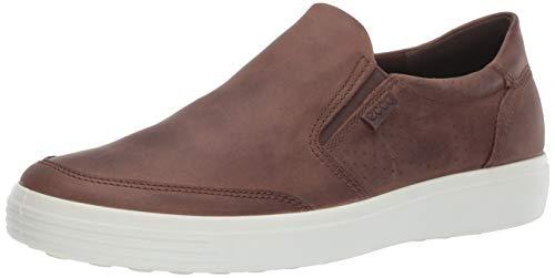 ECCO Men's Soft 7 Slip On Sneaker, Cocoa Brown Nubuck, 43 M EU (9-9.5 US)