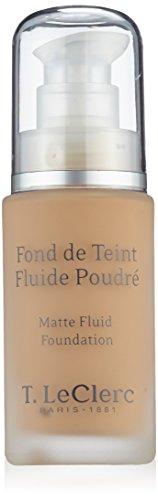 T LECLERC TEINT Fond de Teint Fluide Poudr SPF15 04 Beige Abricote Mat (30ml)