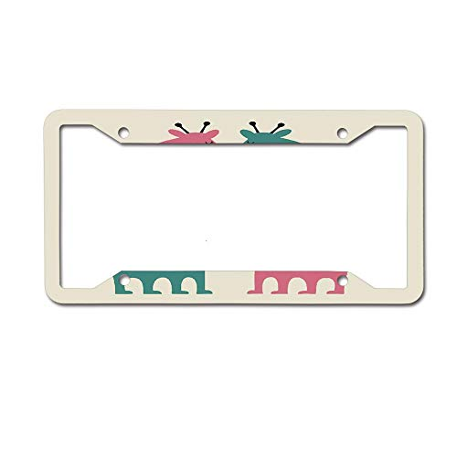 Jackie Prout ss Cartoon Giraffe Intertwine Heart-Shaped Romance License Plate Frame Holder Aluminum Car Tag Frame 4 Hole and Screws ()