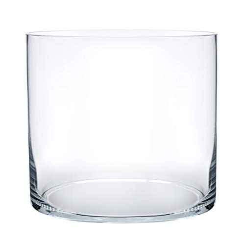 Glass Vase Decorative Centerpiece for Home or Wedding Cylinder Shape, 5