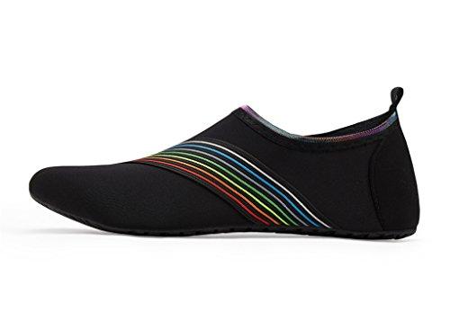 LEKUNI Rápido de de Agua Color Sj Soles Unisex schwarz Zapatos de Secado de Natación Playa Piscina Respirable Agua Zapatos LK de Calzado vqABvd