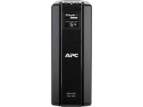 APC 1500VA UPS Battery Backup & Surge Protector with AVR, Back-UPS Pro Uninterruptible Power Supply (BR1500G) from APC