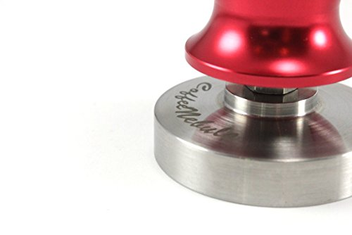 Coffee Espresso Tamper 58mm - CONSISTANT ACCURATE PRESSURE - Pulls Epic Shot- Calibrated to 30lb (Red)