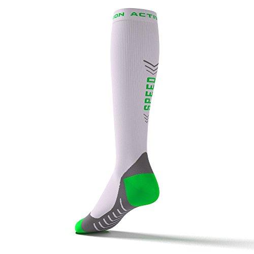 Cyclisme blanc Active Laufsstrümpfe socks Vert Compression Speed Performance Duathlon Marathon Triathlon Pour OvzORB