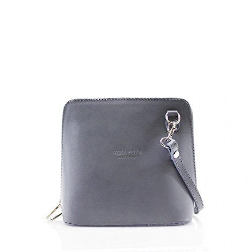GENUINE L SHOULDER LeahWard LEATHER CROSS ITALY 011 SMALL BAGS Grey BODY COqO7