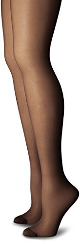 Just My Size Women's Smooth Finish Regular Reinforced Toe Panty Hose Eco Jet Black 4X❗️Ships directly from Hanes❗️