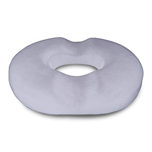 Donut Seat Cushion Pillow, Memory Foam – Contoured & Premium Comfort Cushion for Hemorrhoids, Prostate, Pregnancy, Post Natal Sciatica Coccyx Pain Relief, Surgery & Relieves Tailbone Pressure DR Flink