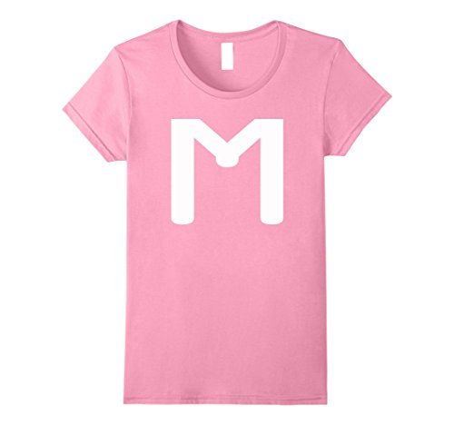 Womens M CANDY LETTER DIY HALLOWEEN COSTUME 2017 T-SHIRT Small Pink (Halloween Costumes Letter E)