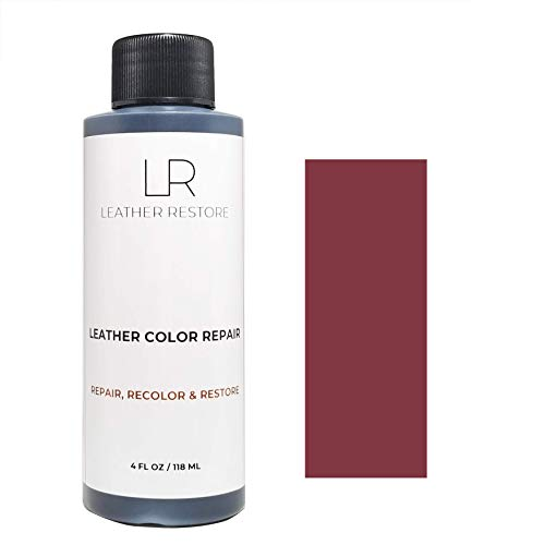 Leather Restore Leather Color Repair, Burgundy 4 OZ - Repair, Recolor and Restore Couch, Furniture, Auto Interior, Car Seats, Vinyl and Shoes