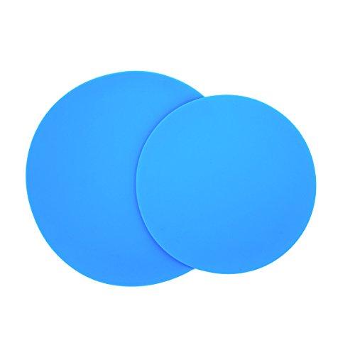 Silicone Jar Mat Opener (Gazeto 2-Pack Multipurpose BPA-free Silicone Kitchen Tool, Microwave Splatter Guard, Trivet, Placemat, Jar Opener, Pot Grabber, Food Cover, Microwave Mat (Blue 12