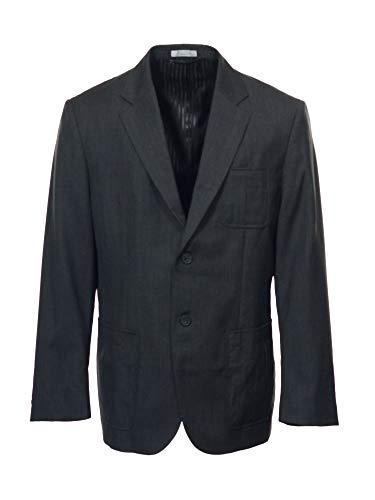 Mens Claiborne Luxe Sport Coat Blazer Sz (42S) Charcoal