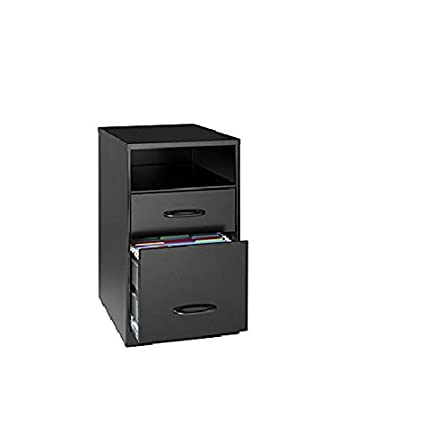 Office Designs Black 18505 Steel 2 Drawer File Cabinet With Shelf