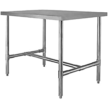 Amazoncom  X  H Frame Stainless Steel Dining Table - 30 x 60 dining table