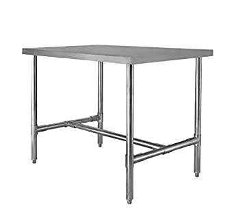 30quot X 60quot H Frame Stainless Steel Dining Table
