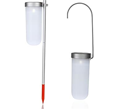 Solar Garden Lighting - Solar Probe Path Light - Set of Two (2) Lights - one Ground Lamp & one Hanging Lamp by Mooni