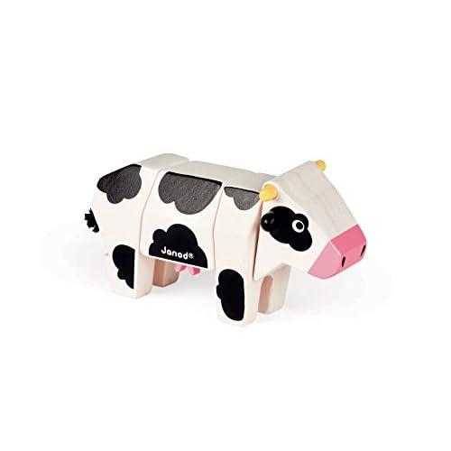 Janod J08222 - Animal Kit Vache Bois