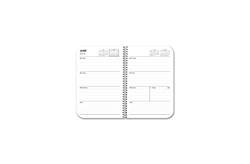 BookFactory 2018-2019 Weekly Academic Calendar (2 Pages per Week - 126 Pages - 3.5'' X 5.5'')/2018 Weekly Planner/Weekly Organizer [Wire-O Bound] (ACAD-152-M3CW-A(WEEKLY-CAL2018-19)) by BookFactory (Image #6)