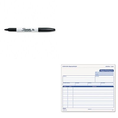 KITSAN30001TOP3834 - Value Kit - Tops Snap-Off Shipper/Packing List (TOP3834) and Sharpie Permanent Marker (SAN30001)