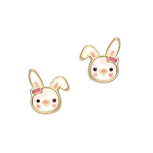 Girl Nation Cuties Collection Enamel Bouncy Bunny Post (Bouncy Bunny)