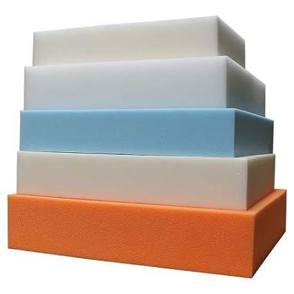 Ventadecolchones Pieza de Espuma a Medida 50 x 50 x 15 cm - Densidad HR 30 kg Ignífuga Suave, para Otras Medidas consúltenos