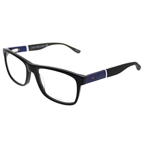 Tommy Hilfiger 1282 Eyeglasses 0FMV Black Blue 52 ()