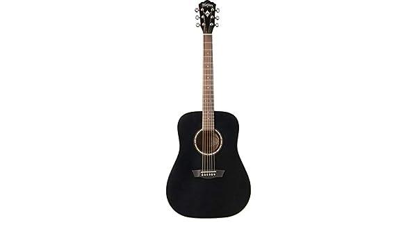 Washburn WD7SBM - Wd-7s bm guitarra acústica tipo dreadnough negra ...