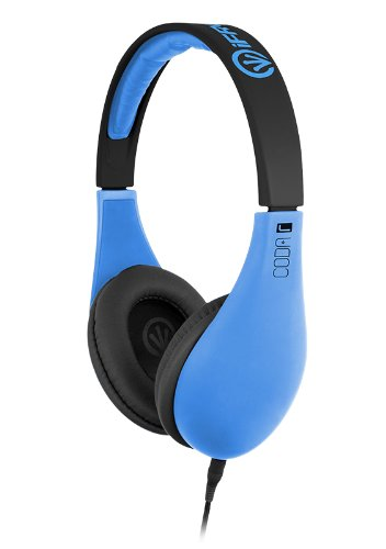 iFrogz IF-COD-NBLU Coda Headphones with Mic, Neon Blue, Best Gadgets