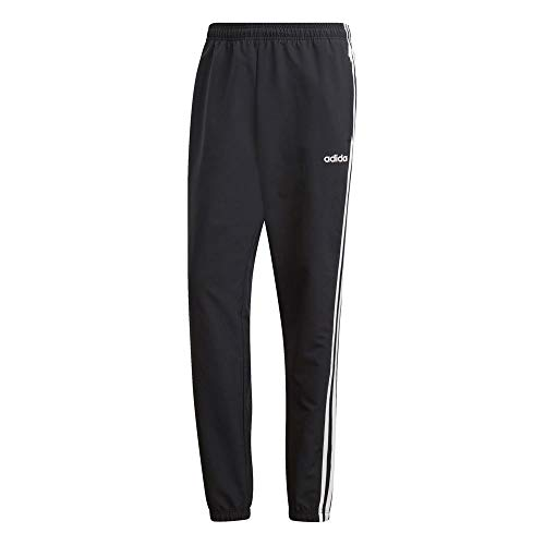 adidas Men's Essentials 3-Stripes Wind Pants, Black/White, 3X-Large