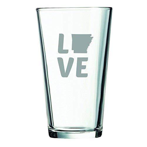 Arkansas-State Outline-Love-16 oz. Pint Glass