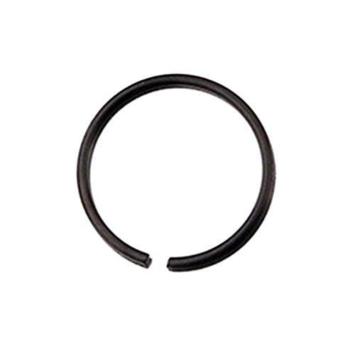 Botrong® Stainless Steel Round Nose Ring Piercing Earring Stud Stud Nasal Septum (8mm, Black) ()