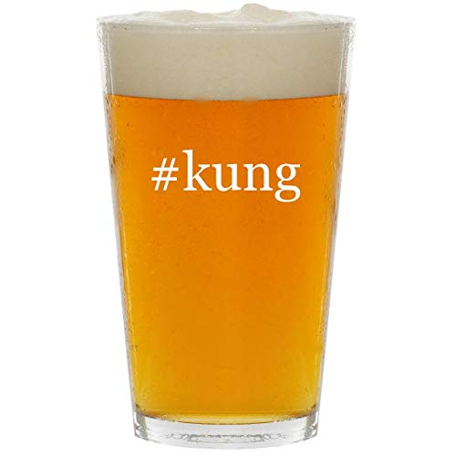#kung - Glass Hashtag 16oz Beer Pint