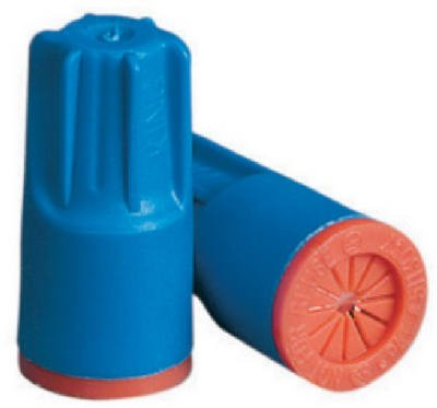 King Innovation 62125 25-Pack 300-600V Aqua Blue/Orange Safety-Sealed Waterproof Wire Connector