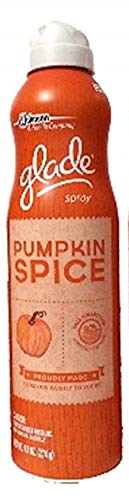 Glade Air Freshener Spray 9.7 Oz - Pumpkin Spice, Fall Limited Edition (Pack of 6)