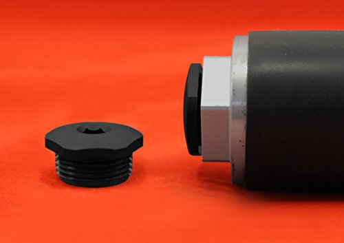 Three npt plug cap end black nylon threaded