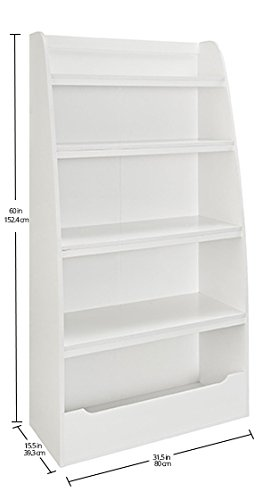 Ameriwood Home Hazel Kids' 4 Shelf Bookcase, White by Ameriwood Home (Image #8)