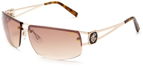 Rocawear Men's R1022 Metal Sunglasses,Gold Frame/Gradient Brown Lens,one size ()