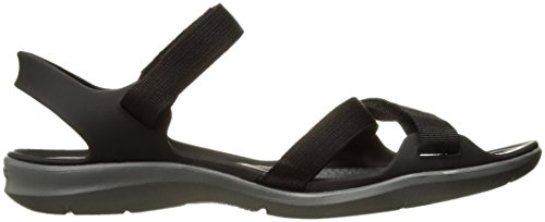 Women's Sandal Webbing Black Crocs Swiftwater daqfUYYw