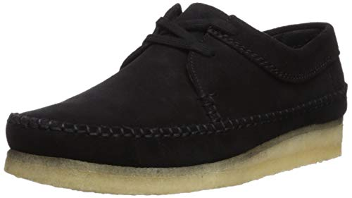 (CLARKS Men's Weaver Moccasin, Black Suede, 130 M US)
