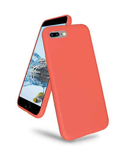 K TOMOTO Compatible with iPhone 7 Plus/8 Plus Case, Ultra Slim Liquid Silicone Gel Rubber Full Body Drop Protection Case Shockproof Protective Phone Cover for iPhone 7 Plus/8 Plus 5.5