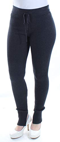 (RACHEL Rachel Roy Womens Ribbed Knit Drawstring Tie Leggings Black S)