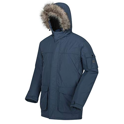 Regatta Men's Salinger Ii Waterproof Breathable Taped Seams Insulated Taffeta Lining Hooded With Removable Faux Fur Trim…