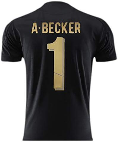 ANHPI-Jersey Alisson Becker # 1 M/änner Fu/ßballtrikot Short Sleeve Sport Trikots T-Shirt-Fans T-Shirts