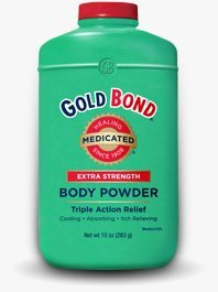 Gold Bond Extra Strength, Triple Action Relief Medicated Body Powder, 10 Oz (2 Pack)
