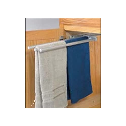 3 Bar Chrome Finish Pull-Out Extending Towel Rack