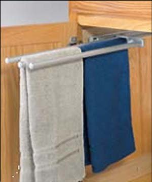 3 Bar Chrome Finish Pull-Out Extending Towel Rack by Hafele