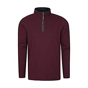 Mountain Warehouse Beta Mens Zip Neck Top – Half Zip Sweater, Warm Microfleece Lining, Lightweight – Ideal for Cold…